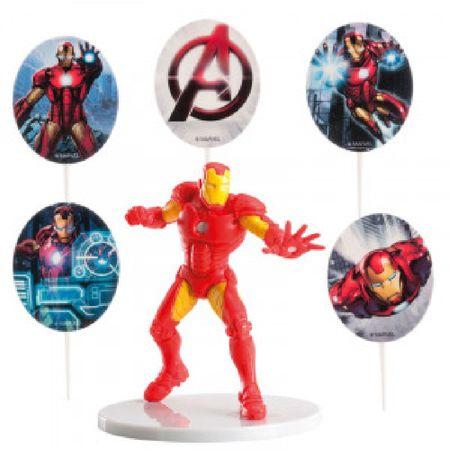 Dekora Figurka na dort Iron Man a dekorace
