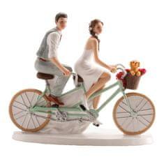 Dekora Svatební figurka na dort 16x18cm cyklisté