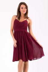 Stylomat Elegantní šaty na ramínka vínové