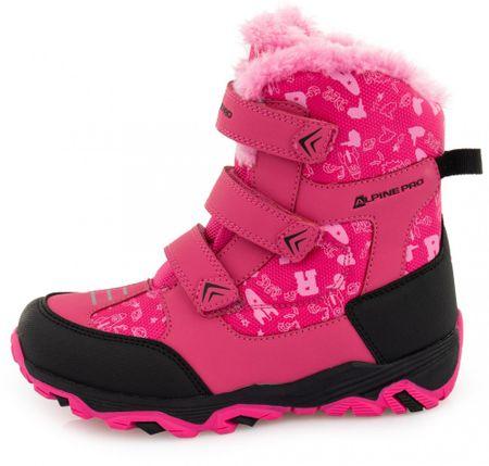 ALPINE PRO dívčí sněhule Gailo KBTP212450G 34 růžová