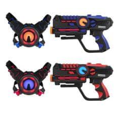 Darpeje sada 2 laserových pistolí - modrá/červená