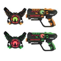 Darpeje sada 2 laserových pistolí - černožlutá/černozelená