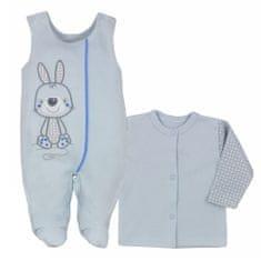KOALA 2-dílná kojenecká BIO souprava Koala Bunny modrá - 74 (6-9m)