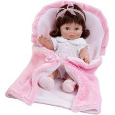 Berbesa Luxusní dětská panenka-miminko Berbesa Magdalena 35cm