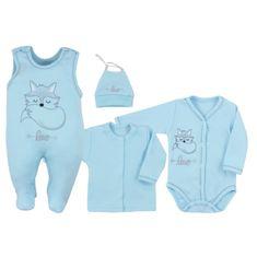 KOALA 4-dílná kojenecká souprava Koala Fox Love modrá - 4-dílná kojenecká souprava Koala Fox Love modrá