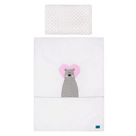 BELISIMA 6-dílné ložní povlečení Belisima Bear in love růžové - 90x120 cm