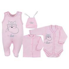 KOALA 4-dílná kojenecká souprava Koala Fox Love růžová - 4-dílná kojenecká souprava Koala Fox Love růžová