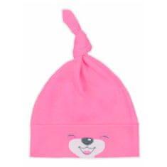 BOBAS FASHION Bavlněná kojenecká čepička Bobas Fashion Lucky tmavě růžová - 56 (0-3m)