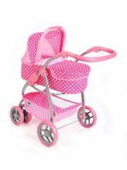 PLAYTO Multifunkční kočárek pro panenky PlayTo Jasmínka světle růžový