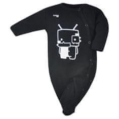 KOALA Kojenecký bavlněný overal Koala Robot černý - 56 (0-3m)