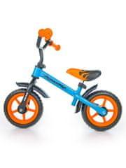 MILLY MALLY Dětské odrážedlo kolo Milly Mally Dragon orange-blue