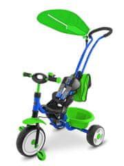 MILLY MALLY Dětská tříkolka Milly Mally Boby Delux blue-green
