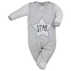 KOALA 2-dílná kojenecká souprava Koala Star šedá - 62 (3-6m)