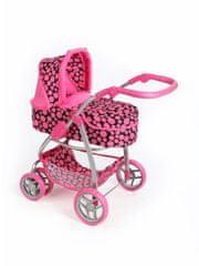 PLAYTO Multifunkční kočárek pro panenky PlayTo Jasmínka růžový