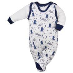 KOALA 2-dílná kojenecká souprava Koala Tajga bílo-modrá - 2-dílná kojenecká souprava Koala Tajga bílo-modrá