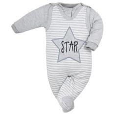 KOALA 2-dílná kojenecká souprava Koala Star s pruhy - 56 (0-3m)