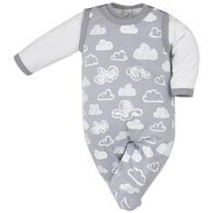 KOALA 2-dílná kojenecká souprava Koala Clouds bílé obláčky - 62 (3-6m)