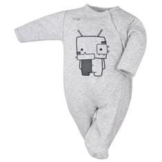 KOALA Kojenecký bavlněný overal Koala Robot šedý - 74 (6-9m)
