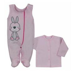 KOALA 2-dílná kojenecká BIO souprava Koala Bunny růžová - 74 (6-9m)