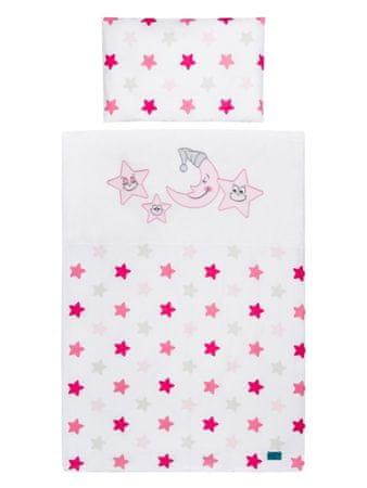 BELISIMA 2-dílné ložní povlečení Belisima Veselé Hvězdičky růžové - 90x120 cm