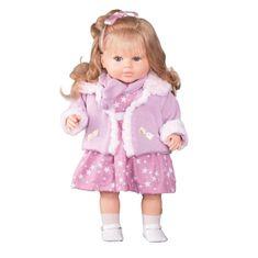 Berbesa Luxusní mluvící dětská panenka-holčička Berbesa Kristýna 52cm
