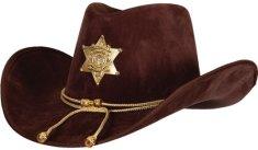 Wicked Kovbojský klobouk - šerif s hvězdou deluxe