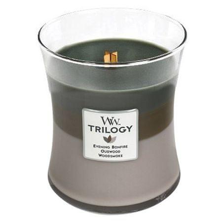 Woodwick Illatos gyertyaváza közepes Trilogy Cozy Cabin 275 g
