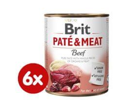 Brit karma dla psa Paté & Meat Beef, 6x800g