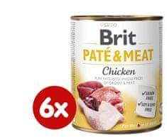 Brit Paté & Meat Chicken 6x800g