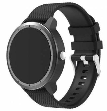 eses silikonski remen za Garmin Vivoactive 3 (1530000610), crni