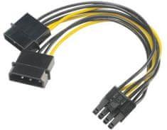 Akasa redukce 4pin Molex na 8pin PCIe, 15cm