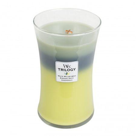 Woodwick Illatos gyertyaváza Trilogy Woodland Shade 609,5 g