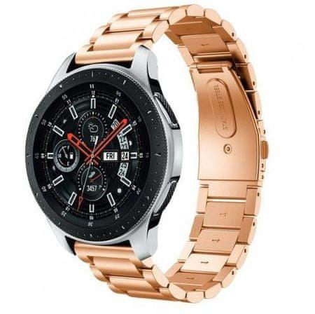 eses 1530001059 kovinski pašček za Samsung Galaxy/Gear Sport/Garmin Vivoactive, rožnato zlat