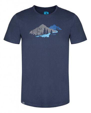 Loap Pánske tričko Belmount Dress Blue Melange CLM1976-L13XL (Veľkosť M)
