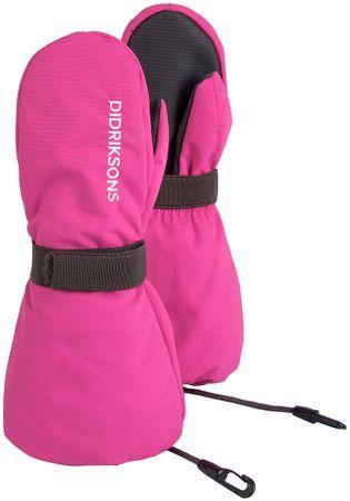 Didriksons1913 Biggles dekliške rokavice, roza, 8–10