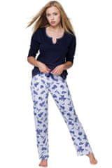 Stylomat Dámské pyžamo Rosalie modré růže