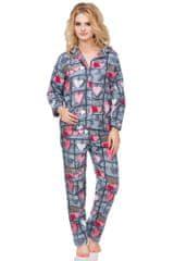 Stylomat Flanelové kostkované pyžamo Wally s knoflíky