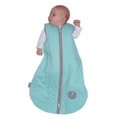 NATULINO Natulino dětský letní spací pytel pro miminko, NATURAL MINT / WARM GREY, 1vrstvý, M (6 - 12 měsíců)
