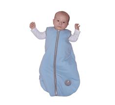 NATULINO Natulino dětský letní spací pytel pro miminko, NATURAL BLUE / WARM GREY, 1vrstvý, N (0 - 3 měsíce)
