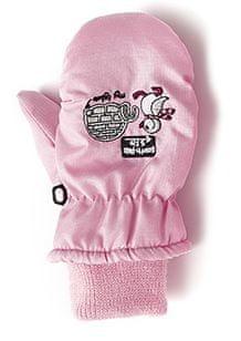 Nickel sportswear rękawiczki dziecięce 3 różowe