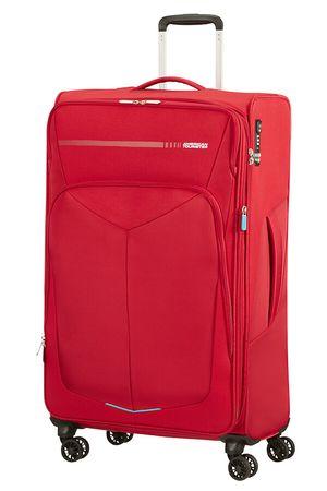 American Tourister Summerfunk potovalni kovček 79/29, razširljiv, TSA, rdeča