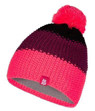 Loap Zonko dekliška zimska kapa, roza, 46–48