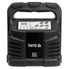 YATO Elektronická nabíječka, 15A, 12V, gel/procesor