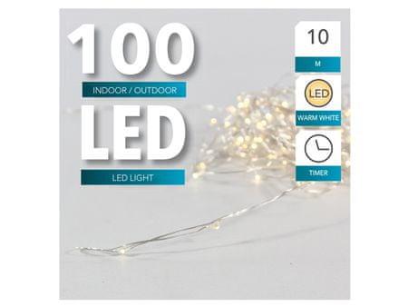 Toro Řetěz světelný 100 LED s časovačem IP44 10 M