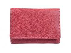Segali Dámská kožená peněženka 7106 carmine