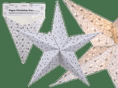 TORO Hvězda vánoční k zavěšení LED, papír, 60 cm