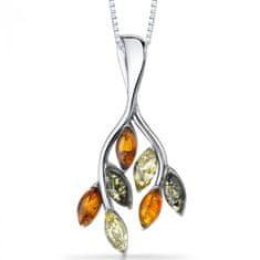 Eppi Nádherný jantarový náhrdelník ze stříbra Ada P31936