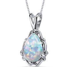 Eppi Bílý opál ve stříbrném náhrdelníku Bara P31468