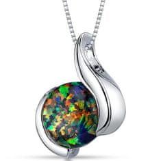 Eppi Černý opál ve stříbrném náhrdelníku Thirumal P31361