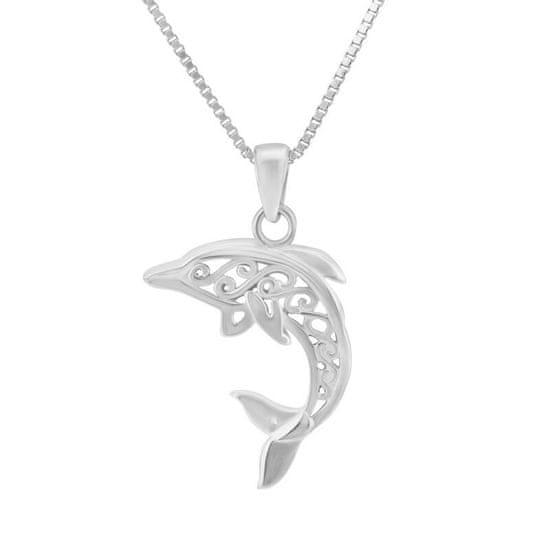 Eppi Strieborný prívesok v tvare delfina Enya P35598